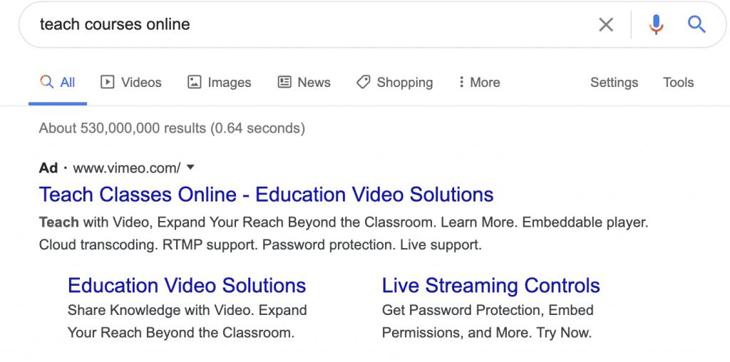 Teachable Online Ads